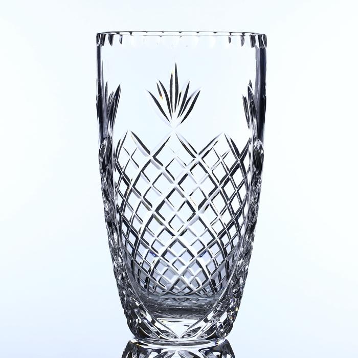24 Lead Crystal 23cm Barrel Vase Engrave A Gift