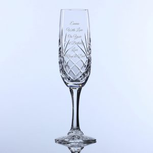 Lead Crystal Long Stem Champagne Flute
