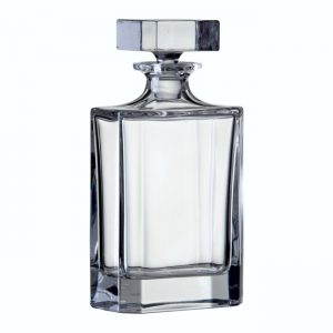 24% lead crystal plain square decanter