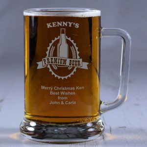 Personalised Glass Tankard Premium Beer