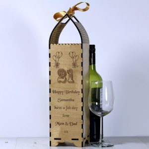 Engraved Bottle Gift Boxe for 21st Birthday