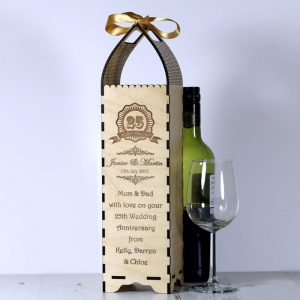 Engraved Bottle Gift Boxe for Anniversary