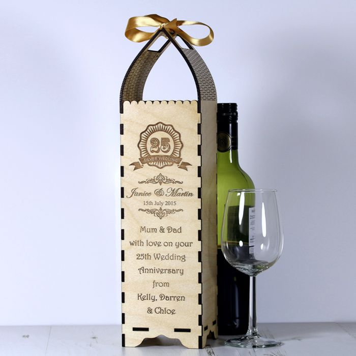 Anniversary Bottle Gift Box Engrave A Gift