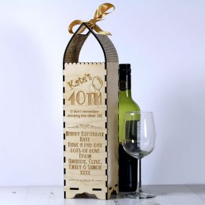 Engraved Bottle Gift Boxe for Birthday