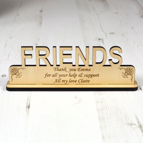 Personalised Friends Wood Plaque Engrave A Gift