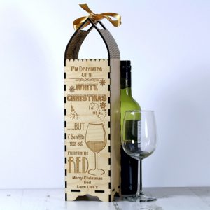 Engraved Bottle Gift Boxe for Christmas