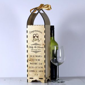 Engraved Bottle Gift Boxe for Wedding Rings