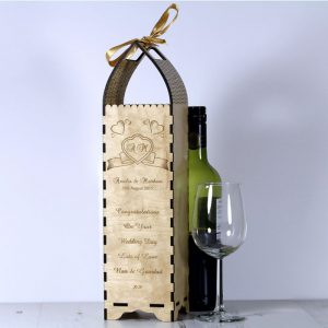 Engraved Bottle Gift Boxe for Wedding