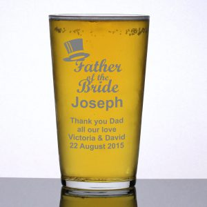 Personalised Pint Glass Father of the Bride