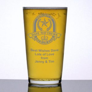 Personalised Pint Glass Property of