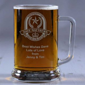 Personalised Glass Tankard Property Of