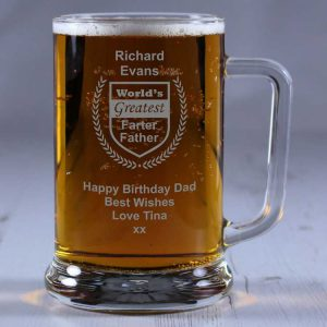 Personalised Glass Tankard World's Greatest Farter
