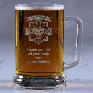 Personalised Glass Tankard Best Teacher in the World