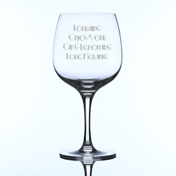 755ml Connoisseur Spanish Gin Glass Engrave A Gift
