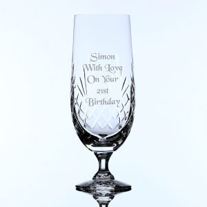 Personalised Lead Crystal Pilsner Glass