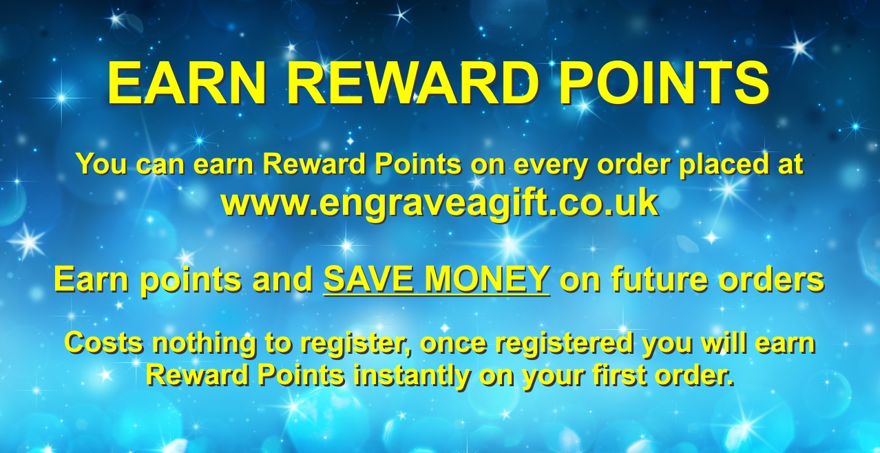 Earn Reward Points for Personalised Engrave a Gift Slider