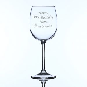 Engraved Personalised Large Wine Glass