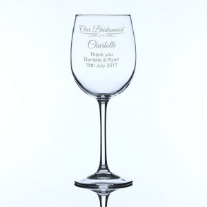 Personalised Large Wine Glass Bridesmaid