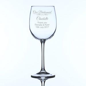 Personalised Large Wine Glass Bridesmaid