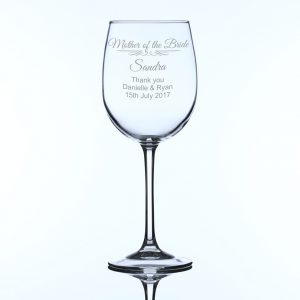 Personalised Large Wine Glass Mother of the Bride