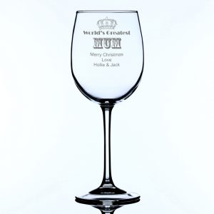 Personalised Large World's Greatest Mum Wine Glass