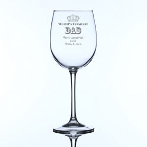 Personalised Large World's Greatest Dad Wine Glass