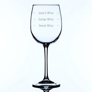 Personalised Large Wine Glass Large Wine Measure