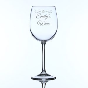 Personalised Large Wine Glass Engraved Name