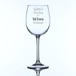 Personalised Large Wine Christmas Wine Glass