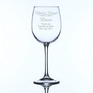 Personalised Large Wine Glass Maid of Honour