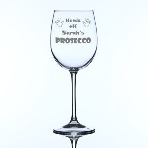 Personalised Large Wine Glass Hands off