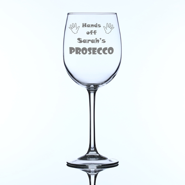 39 Hands Off 39 Personalised Large Wine Glass Engrave A Gift