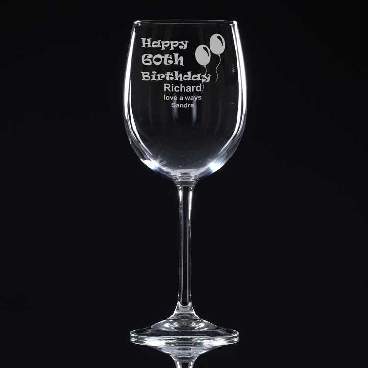 Th Birthday Wine Glass