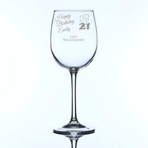 Personalised Large Wine Glass for 21st Birthday