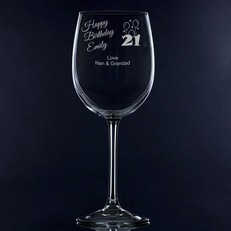 '21st Birthday' Personalised Large Wine Glass