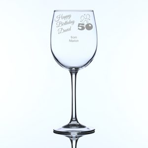 Personalised Large Wine Glass for 50th Birthday
