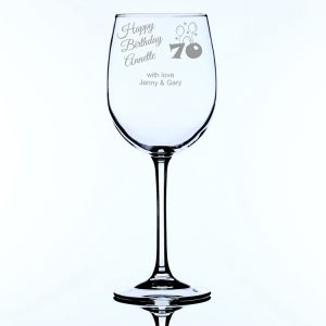 Personalised Large Wine Glass for 70th Birthday
