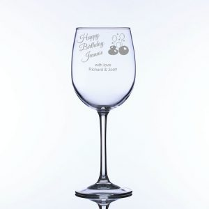 Personalised Large Wine Glass for 80th Birthday
