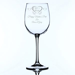 Personalised Large Wine Glass Mother's Day