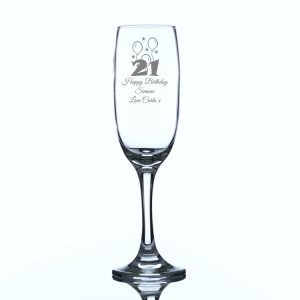 Personalised Champagne Glass Birthday Balloons