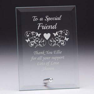 Personalised Glass Plaque To a Special Friend Gift
