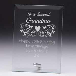 Personalised Glass Plaque To a Special Grandma Gift