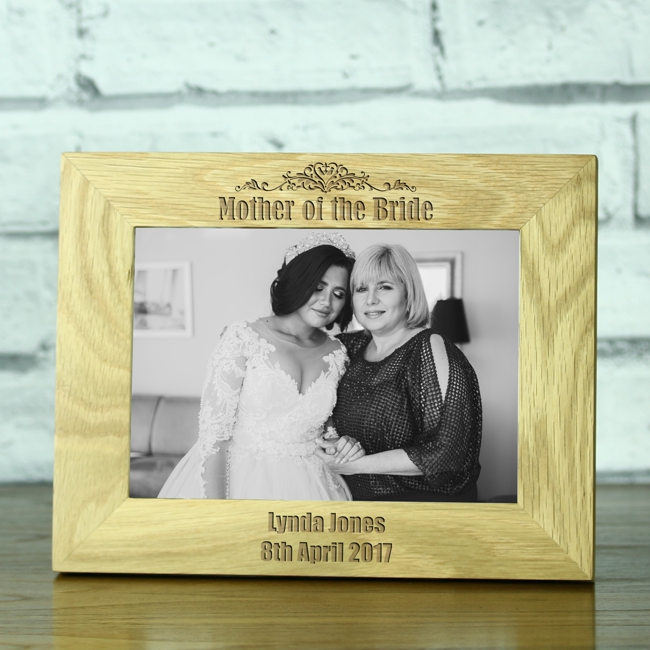 Mother Of The Bride Personalised Solid Oak 5 X 7 Photo Frame