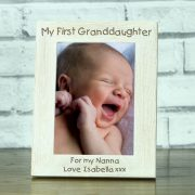 OAKWW57152P-laser-engraved-new-baby-my-first-1st-granddaughter-personalised-5-x-7-solid-oak-wooden-photo-frame