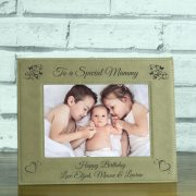 LEABRFR110L-laser-engraved-brown-leatherette-personalised-to-a-special-mummy-5-x-7-photo-frame