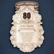 Laser engraved stars and balloon design Birthday celebration wooden wall plaque