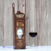 personalised wine bottle gift box chateau de add surname