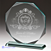 personalised jade glass wedding plaque